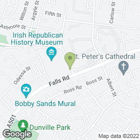 Map of Central Cabs in Belfast, county antrim