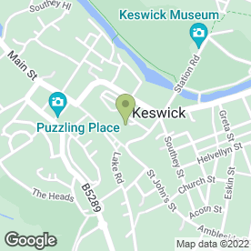 Map of The Pack Horse Inn in Keswick, cumbria