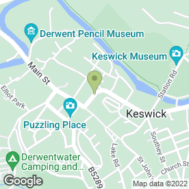 Map of The Lakes Fish Restaurant & Takeaway in Keswick, cumbria