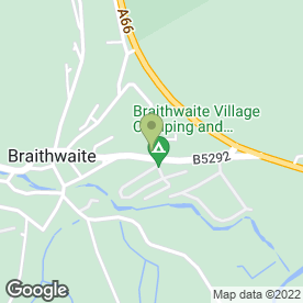 Map of Dave Worthington in Braithwaite, Keswick, cumbria