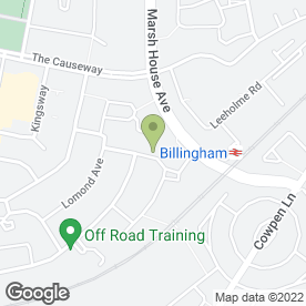 Map of BNK Plastering in Billingham, cleveland
