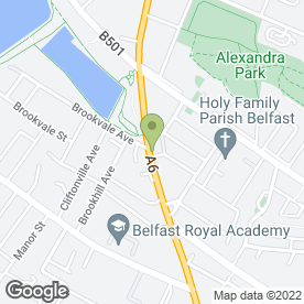 Map of Antrim Road Foot Clinic in Belfast, county antrim