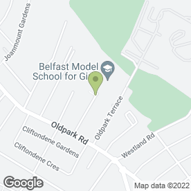 Map of Mini Model Day Nursery in Belfast, county antrim