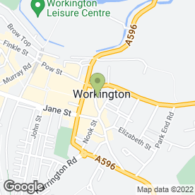 Map of The Salon Hair Workshop in Workington, cumbria