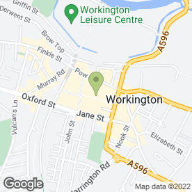Map of O2 Store Workington in Workington, cumbria
