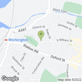Map of The Southward Carpet Centre in Workington, cumbria
