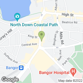 Map of The Goat's Toe in Bangor, county down