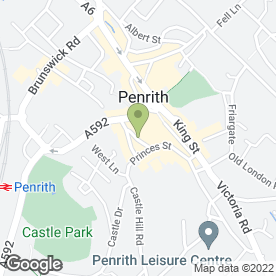Map of Wilkes-Green & Hill in Penrith, cumbria