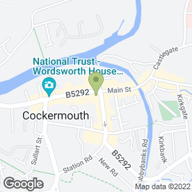 Map of Mandy Johnston Chiropody in Cockermouth, cumbria