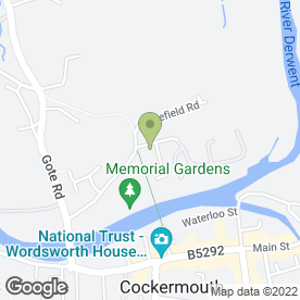 Map of Derwent House Surgery in Cockermouth, cumbria