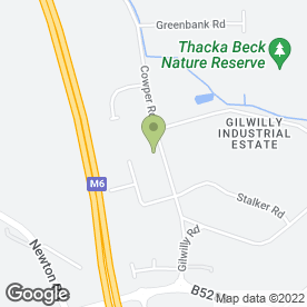 Map of Cumbria X-Press Ltd in Gilwilly Industrial Estate, Penrith, cumbria