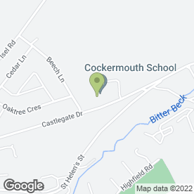 Map of Cockermouth School in Cockermouth, cumbria
