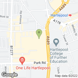 Map of Greggs in Hartlepool, cleveland
