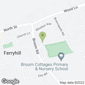 Map of Ferryhill Computer Services in Ferryhill, county durham