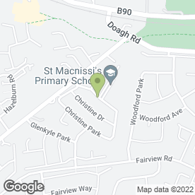 Map of St. McNissis Primary School in Newtownabbey, county antrim
