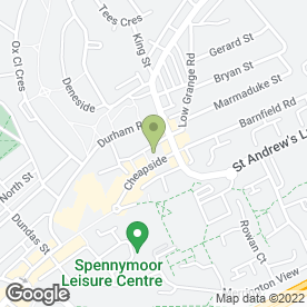 Map of Blades in Spennymoor, county durham