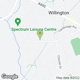 Map of Mark Galloway Photographic in Willington, Crook, county durham