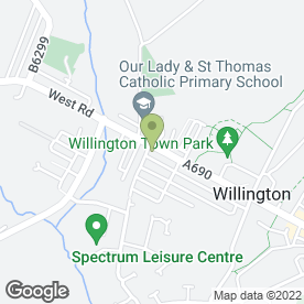 Map of Ocelot Home Designs Ltd in Willington, Crook, county durham