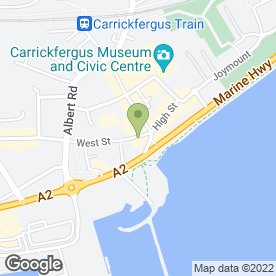 Map of ABOUT FACE in Carrickfergus, county antrim