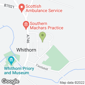 Map of Mow He Can in Whithorn, Newton Stewart, wigtownshire