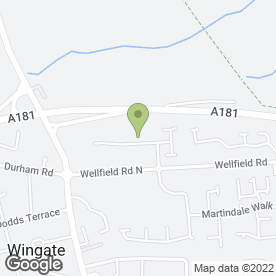 Map of D. Gilling JCB Hire in Wingate, county durham