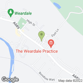 Map of Multiple Sclerosis Society (Stanhope & Weardale Branch) in Stanhope, Bishop Auckland, county durham