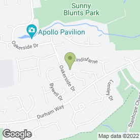 Map of Oaklands Public House in Peterlee, county durham