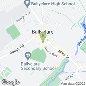 Map of Ernest Hall Menswear & Dress Hire in Ballyclare, county antrim