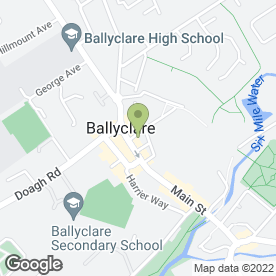 Map of CAROLINE CAROL HAIR CO in Ballyclare, county antrim