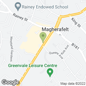 Map of Mac's Fish & Burger Bar in Magherafelt, county londonderry