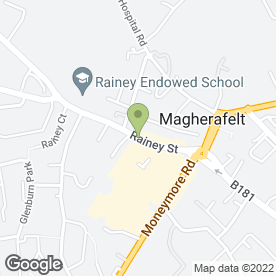 Map of Jauntys Dinner in Magherafelt, county londonderry