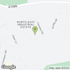 Map of NTE Limited in North East Industrial Estate, Peterlee, county durham