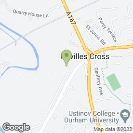Map of Neville's Cross Primary School in Durham, county durham