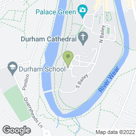 Map of The Chorister School in Durham, county durham
