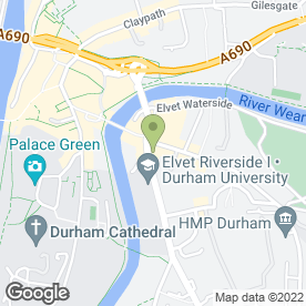 Map of Three Tuns Hotel in Durham, county durham