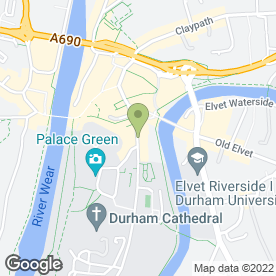 Map of The Varsity in Durham, county durham