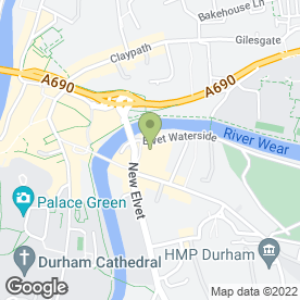Map of Durham Marriott Royal County Hotel in Durham, county durham