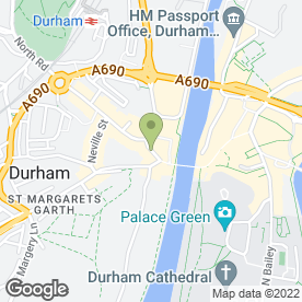 Map of Greggs in Durham, county durham