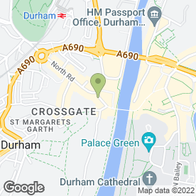 Map of Specsavers Hearing Centres in Durham, county durham