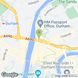 Map of Ebony Champagne Bar in Durham, county durham