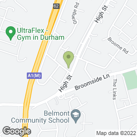 Map of Belmont Dental Practice in Durham, county durham