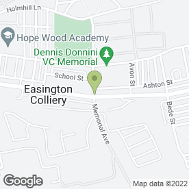 Map of The Spice of India in Easington Colliery, Peterlee, county durham