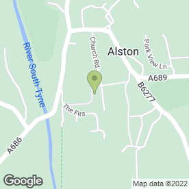 Map of Alston Medical Practice in Alston, cumbria