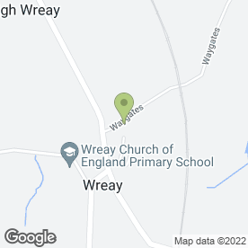 Map of Wreay C of E School in Wreay, Carlisle, cumbria
