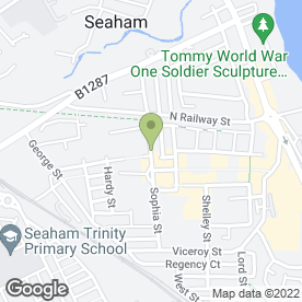 Map of Kitchen & Bedroom Solutions in Seaham, county durham