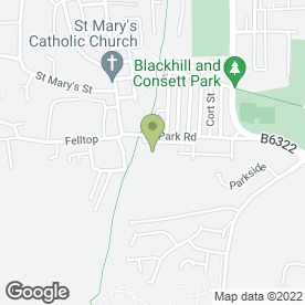 Map of I.M. Commercials in Blackhill, Consett, county durham