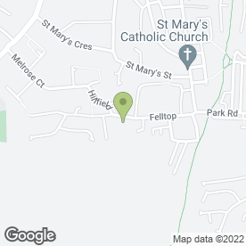 Map of Hilary's Driving School in Consett, county durham