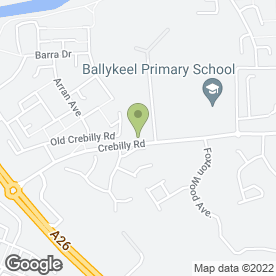 Map of Auto Fit Express in Ballymena, county antrim
