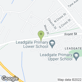Map of Joanne Greenwell in Leadgate, Consett, county durham