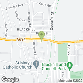 Map of Swinburne Horticultural Services Ltd in Blackhill, Consett, county durham